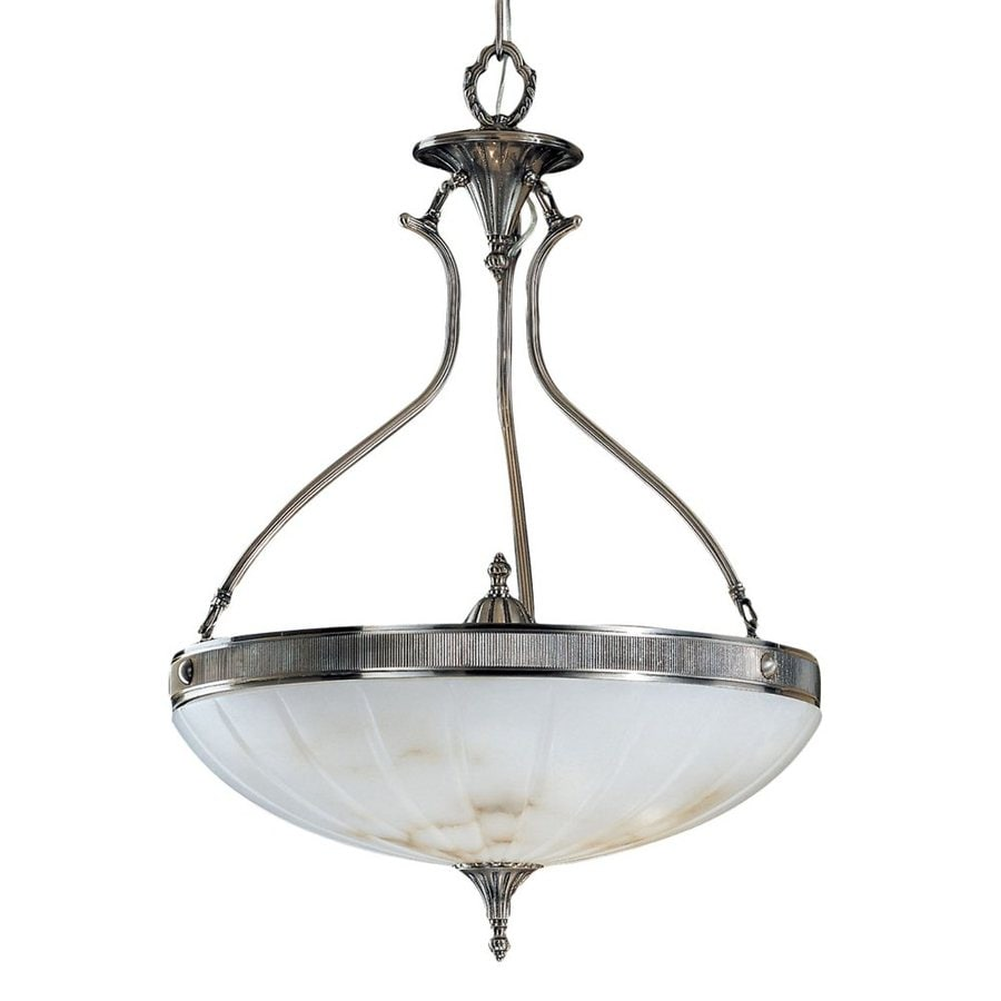 Classic Lighting Chelsea 20-in Pewter Vintage Single Bowl Pendant