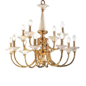 Shop classic lighting spanish ceramic chandeliers at lowes classic lighting spanish ceramic 30 in 12 light polished brass williamsburg tiered chandelier aloadofball Image collections