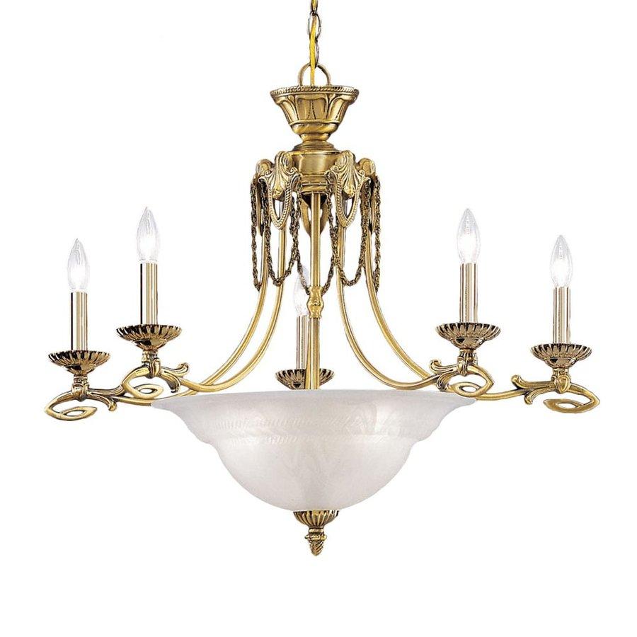 Vintage Solid Brass Pillar Light: Classic Lighting Medallion Solid Brass 8-Light Antique