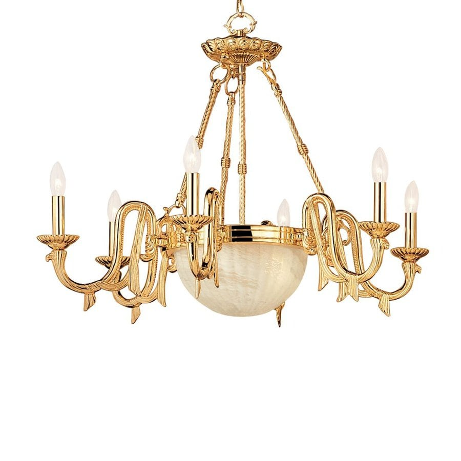 Classic Lighting St Moritz 33-in 8-Light Gold Vintage Candle Chandelier