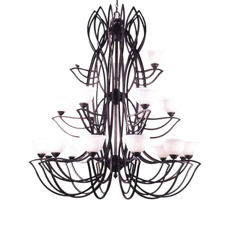 Classic Lighting Alpha 56-in 21-Light English Bronze Wrought Iron Tiered Chandelier