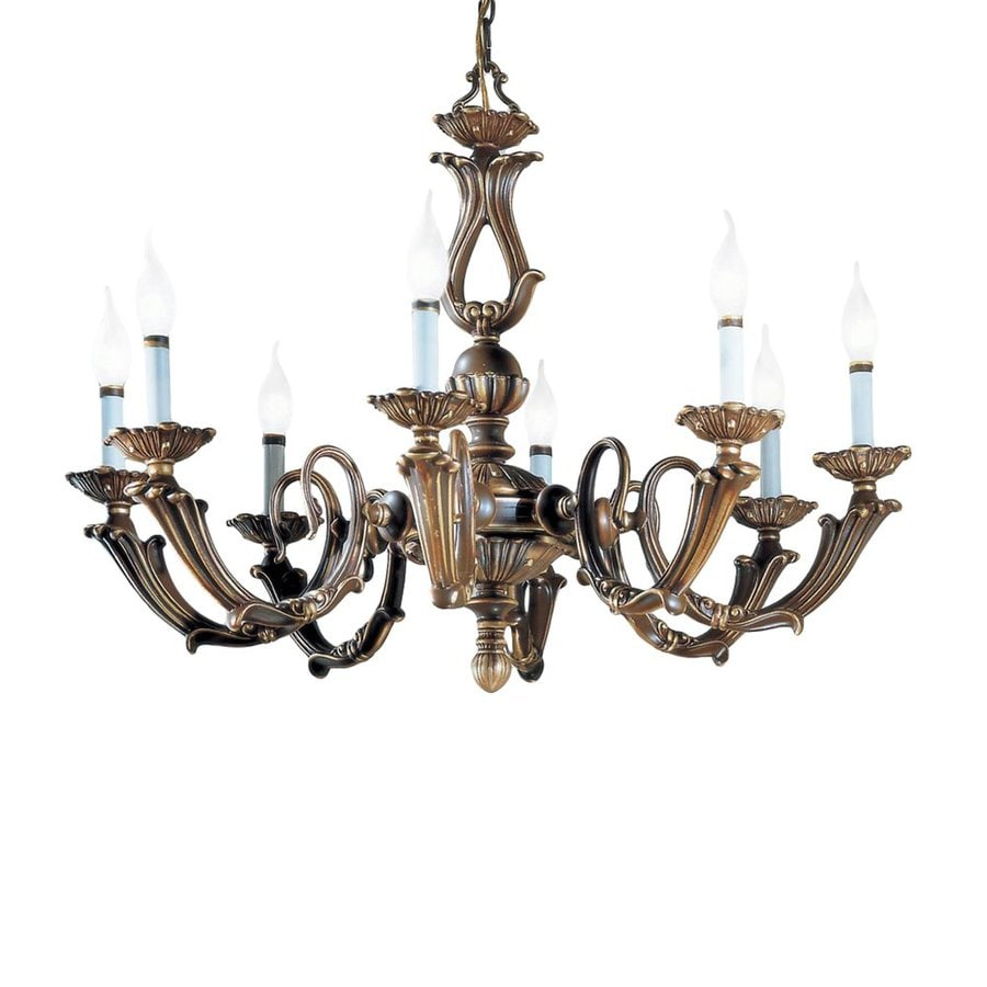 Classic Lighting Alexandria Iii 23-in 8-Light Victorian Bronze Vintage Candle Chandelier