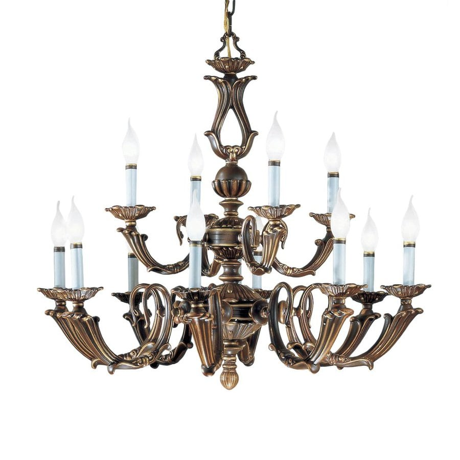 Classic Lighting Alexandria III 31-in 12-Light Victorian bronze Vintage Tiered Chandelier
