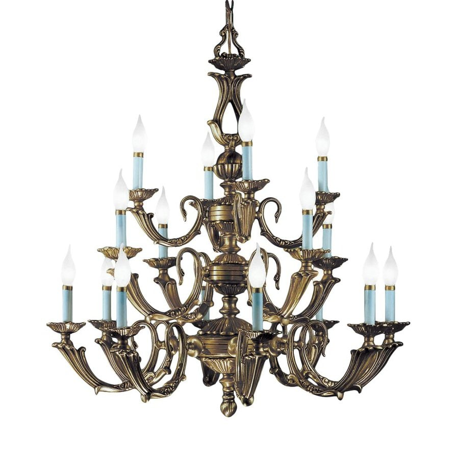 Classic Lighting Alexandria Iii 34-in 16-Light Victorian Bronze Vintage Tiered Chandelier