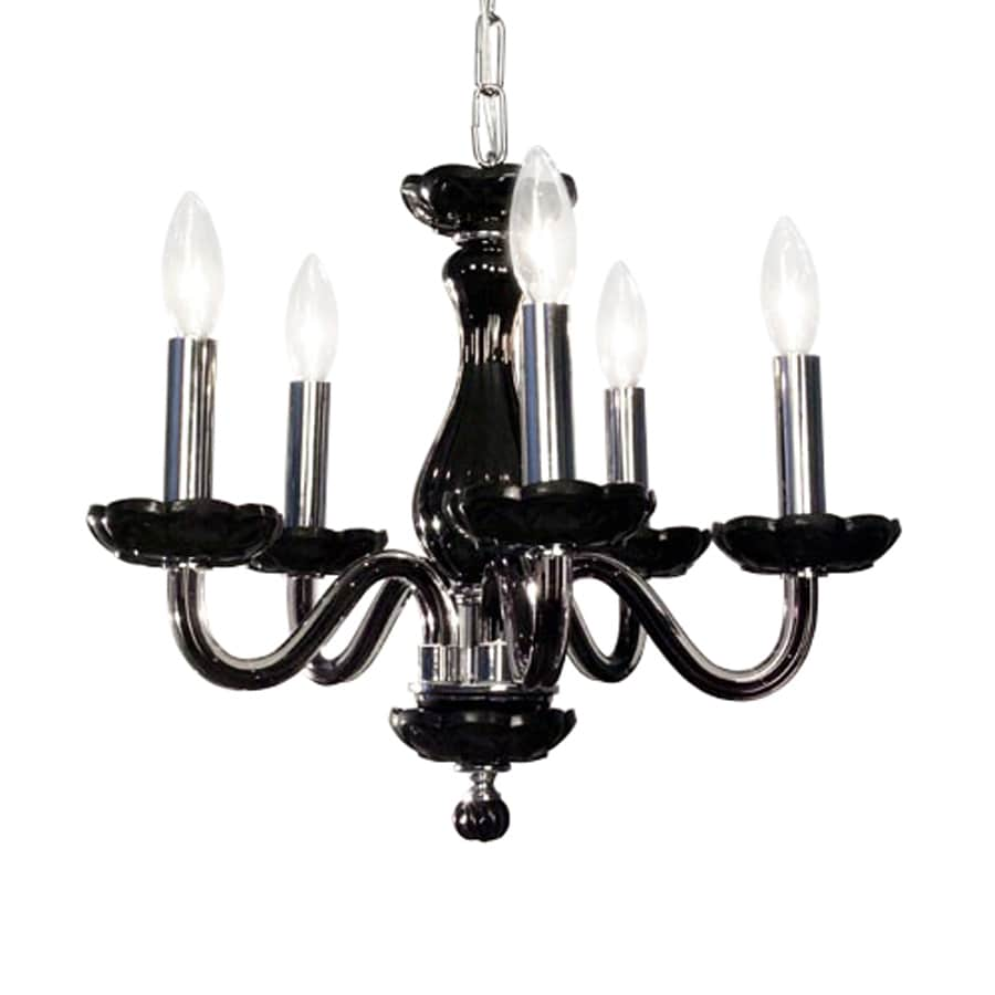 Classic Lighting Monaco 17-in 5-Light Black Crystal Candle Chandelier