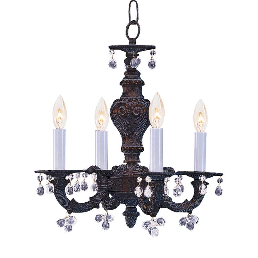 Cascadia Lighting 4-Light Venetian Bronze Crystal Accent Chandelier