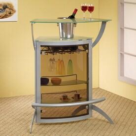 Coaster Fine Furniture 33 In X 40.5 In Half Moon Mini Bar