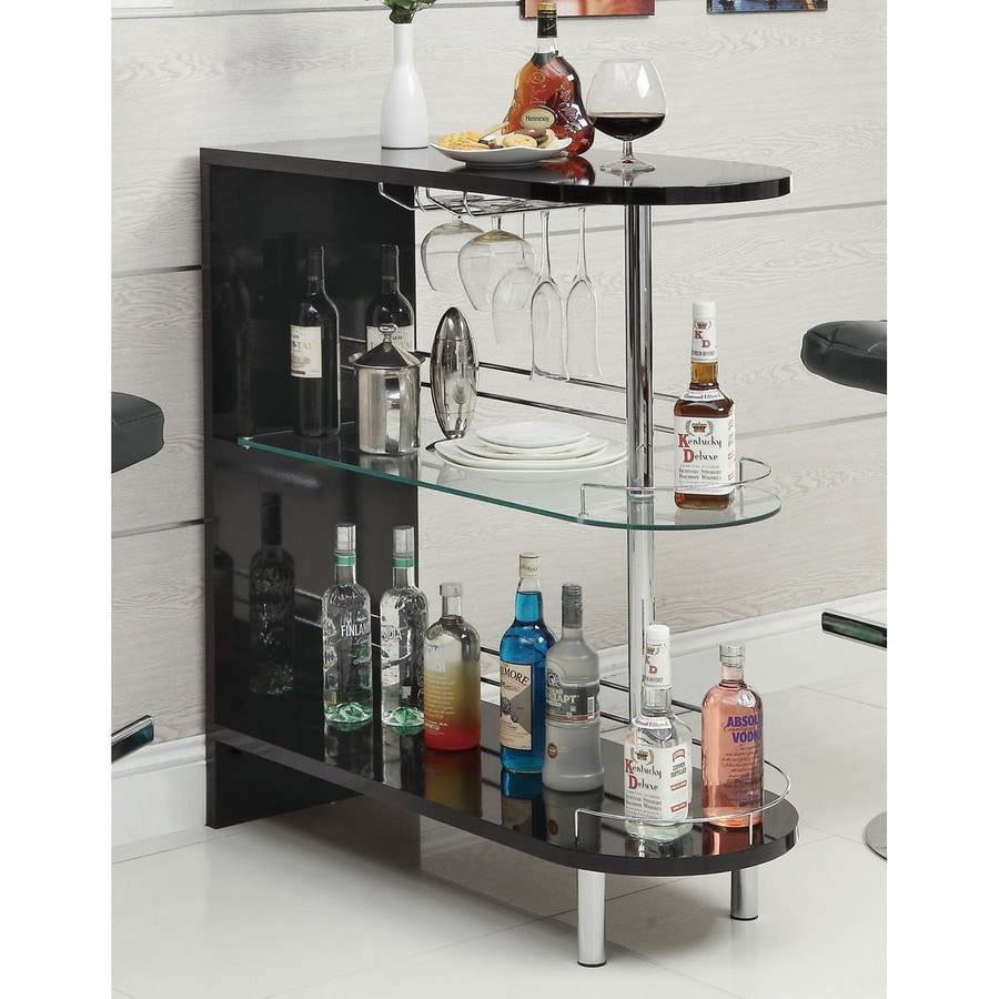 Mini bar furniture - Coaster Fine Furniture 39 25 In X 41 In Oval Mini Bar