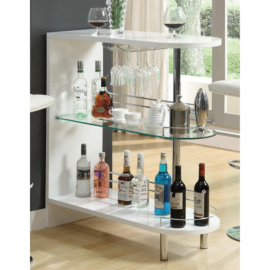 Coaster Fine Furniture 39.25-in x 41-in Oval Mini Bar