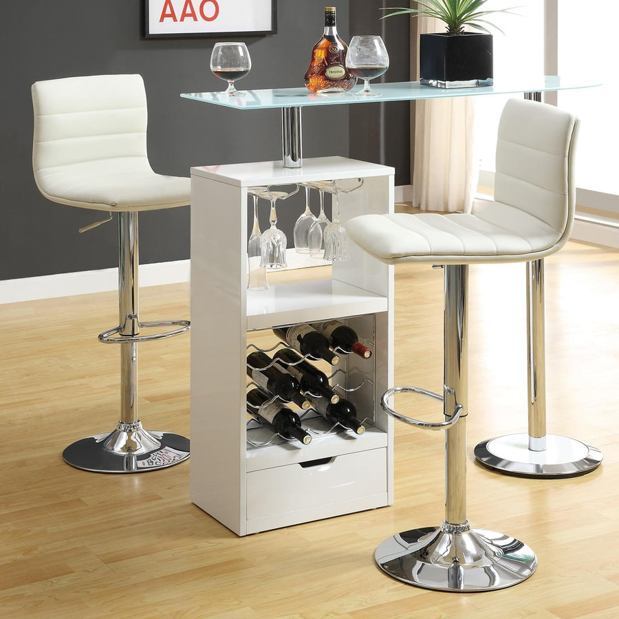 white home bar furniture. Coaster Fine Furniture 15.75-in X 43.5-in Rectangle Mini Bar White Home