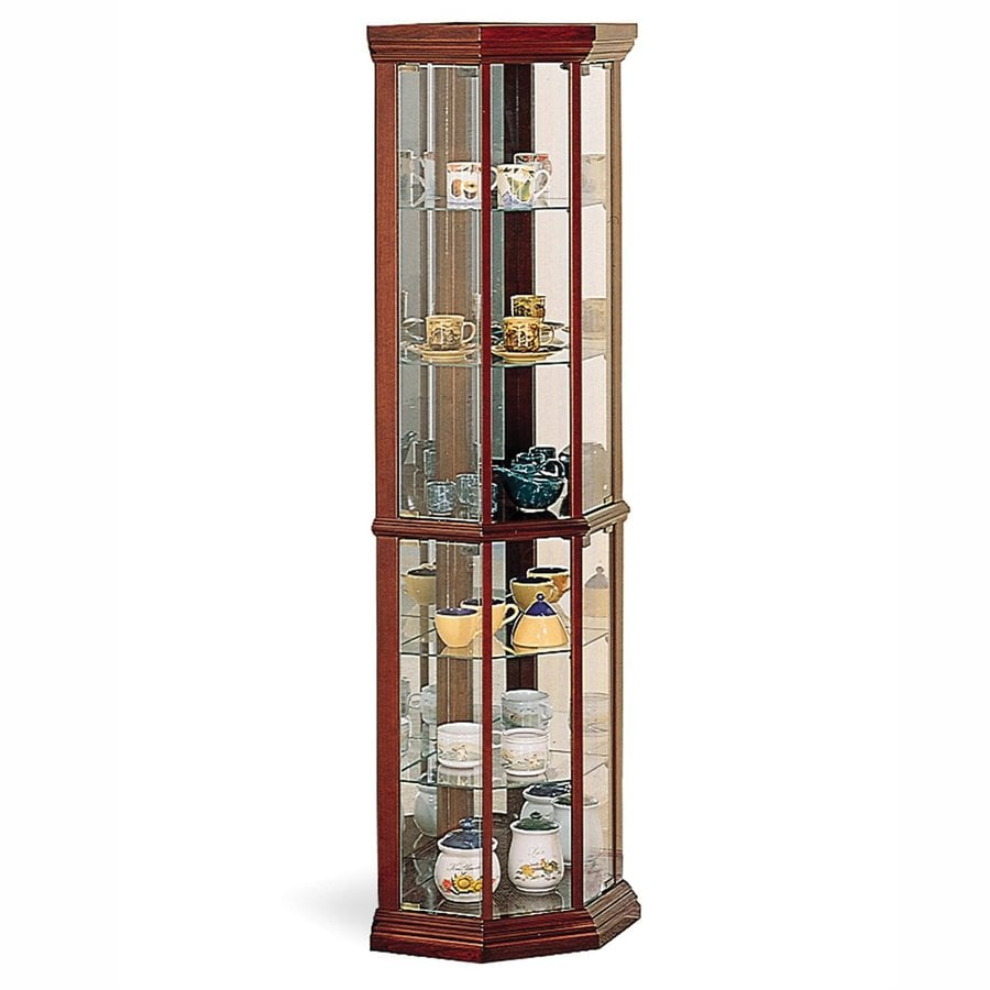 Coaster Fine Furniture Cherry Curio Cabinet