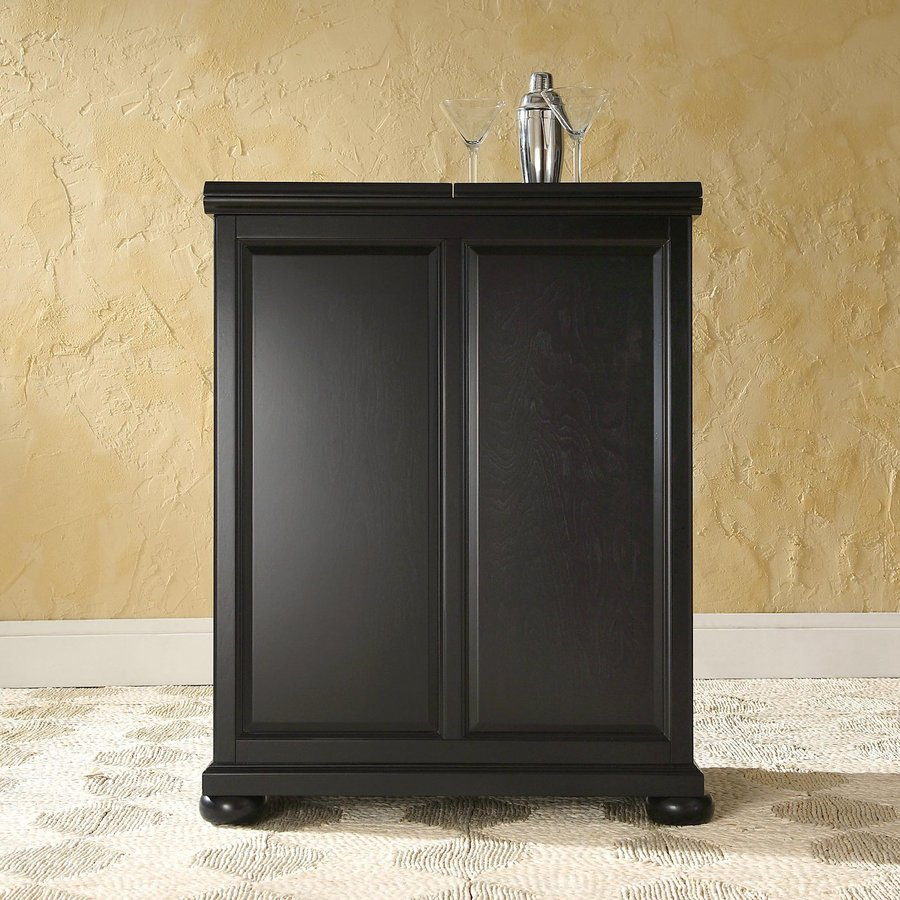 Crosley furniture alexandria 31 in x 42 in rubberwood rectangle cabinet bar