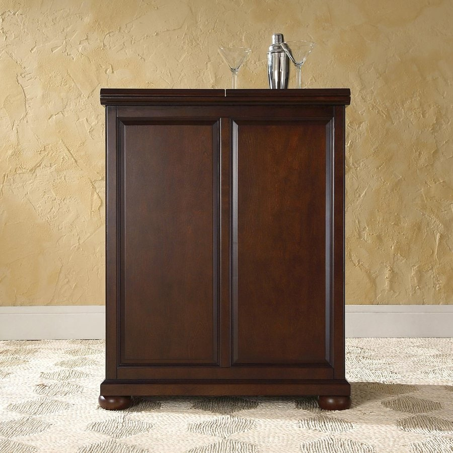 Crosley Furniture Alexandria 31.25-in x 42-in Rubberwood Rectangle Cabinet Bar