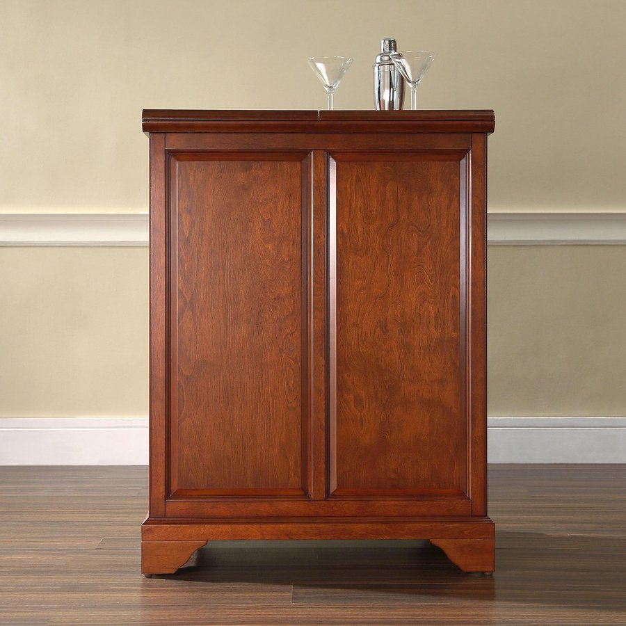 Crosley Furniture Lafayette 31.25-in x 42-in Rubberwood Rectangle Cabinet Bar