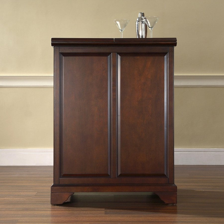 Crosley Furniture Lafayette 31.25-in x 42-in Rubberwood Rectangle Cabinet Bar