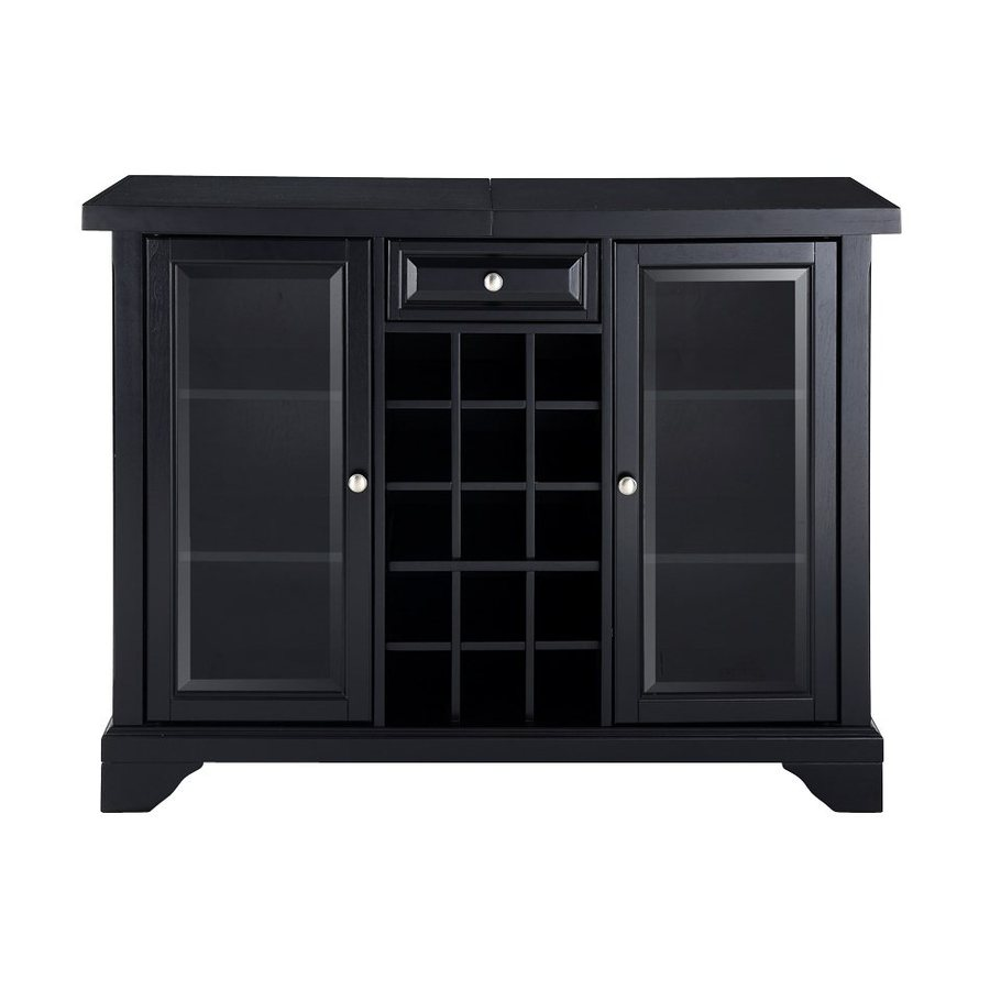 Crosley Furniture Lafayette 47.75-in x 36-in Rubberwood Rectangle Cabinet Bar