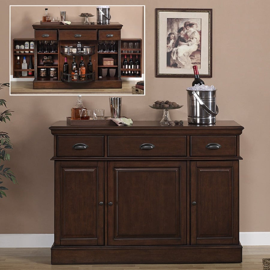 Shop American Heritage Billiards Gabriella 52 In X Composite Rectangle Cabinet Bar At