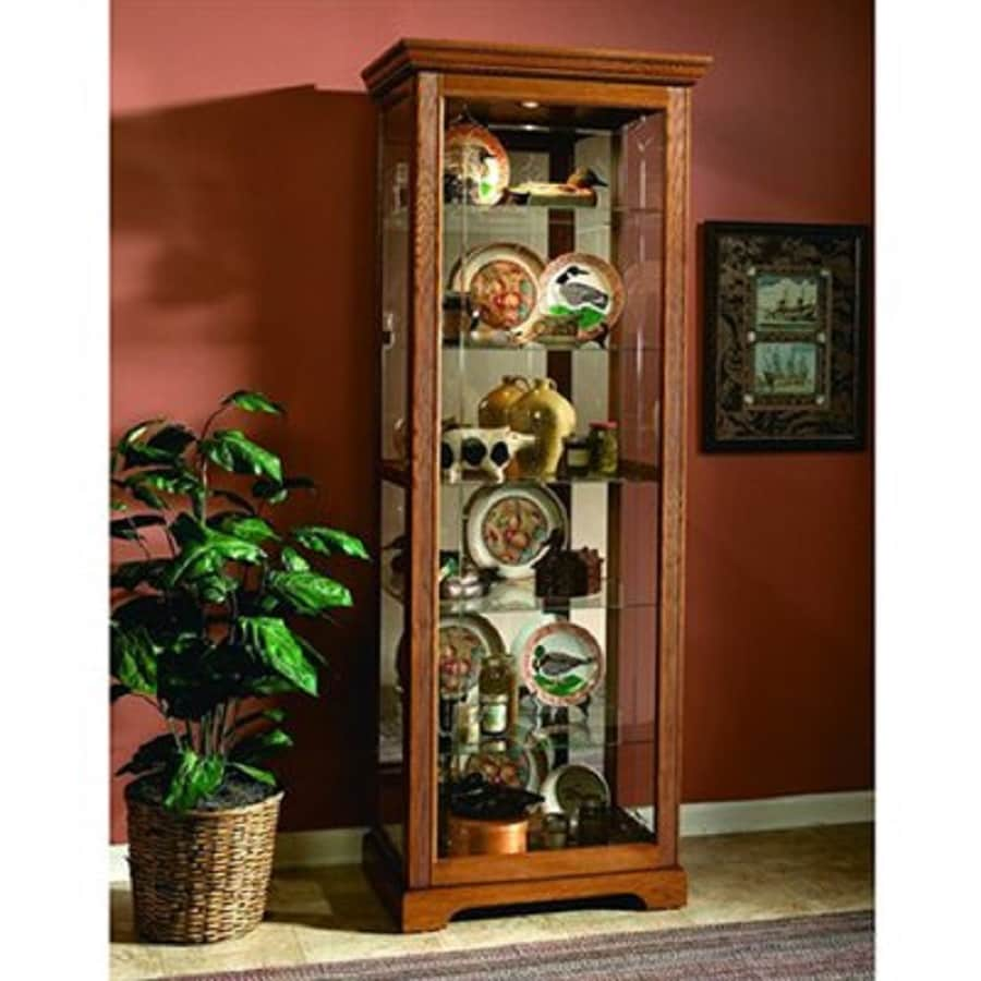Pulaski Golden Oak III Rectangular Curio Cabinet