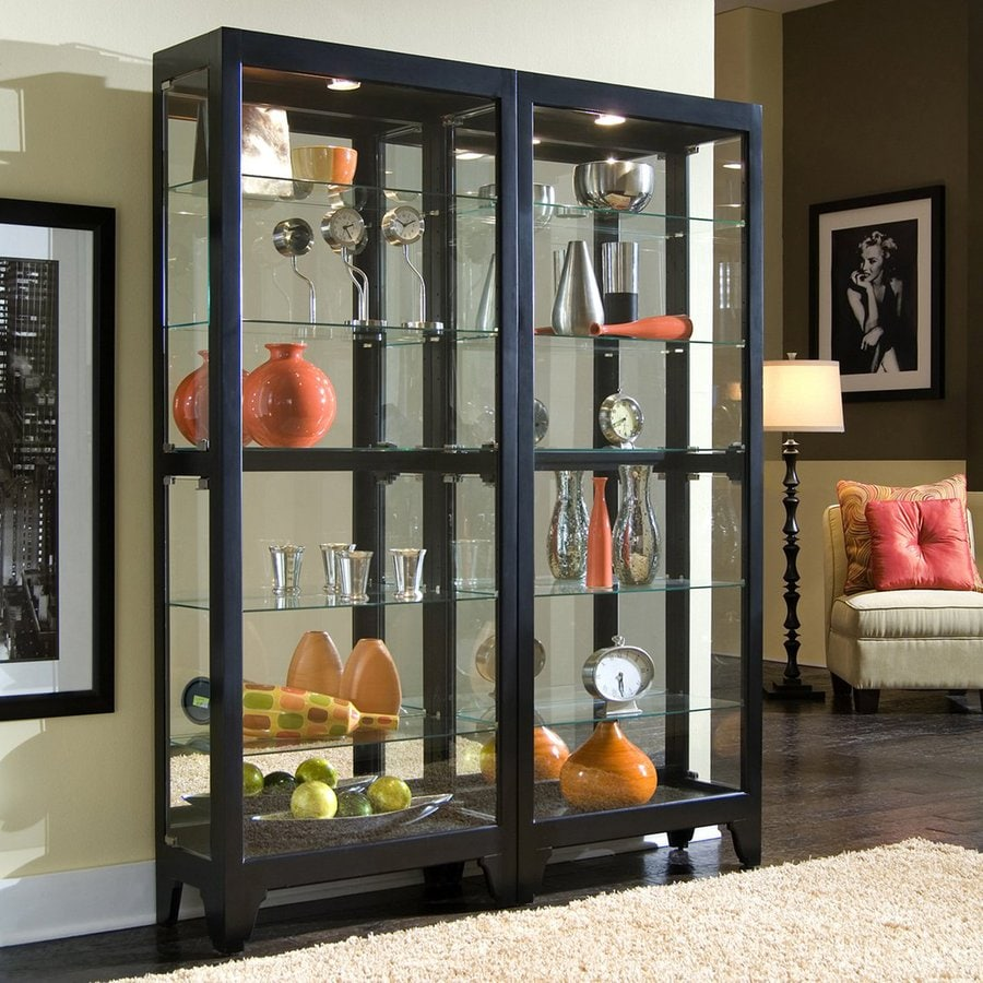 Pulaski Onyx Wood Curio Cabinet At Lowes Com