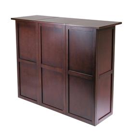 Winsome Wood Newport 50 In X 40.16 In Beechwood Rectangle Cabinet Bar