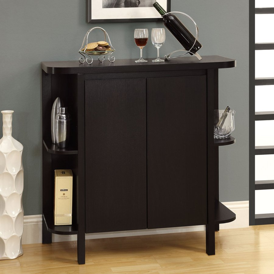 Monarch Specialties 36-in x 36-in Rectangle Cabinet Bar