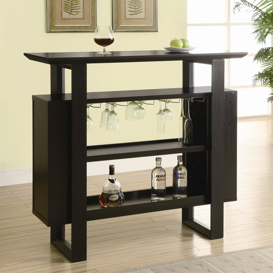 Shop Monarch Specialties 47.25-in x 42-in Rectangle Mini Bar Bar at ...