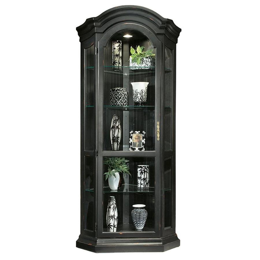 Philip-Reinisch Company Colortime Pirate Black Corner Curio Cabinet