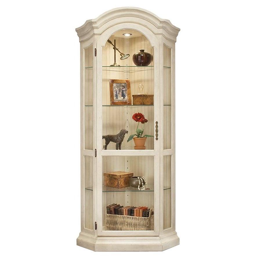 Philip Reinisch Company Colortime Sandshell White Birch Curio Cabinet