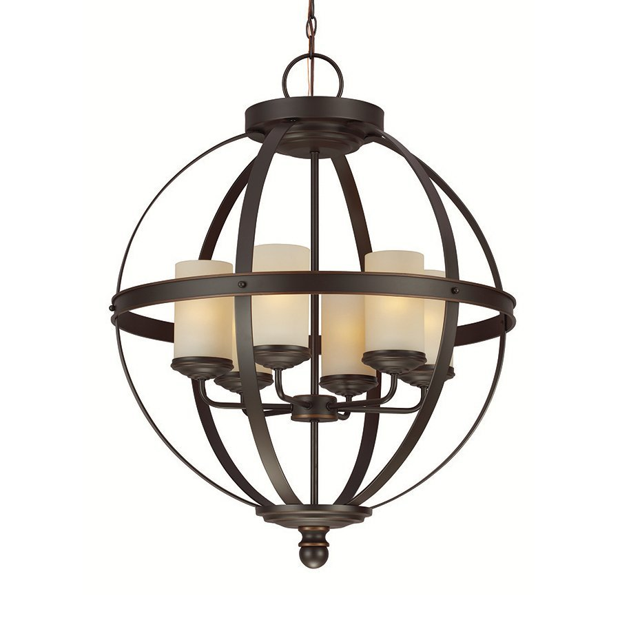 Sea Gull Lighting Sfera 24.5-in Autumn Bronze Wrought Iron Single Orb Pendant