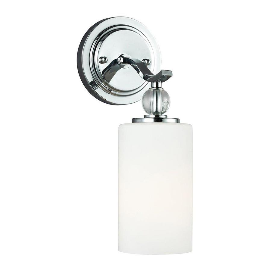 Sea Gull Lighting Englehorn 1-Light 13-in Chrome Cylinder Vanity Light