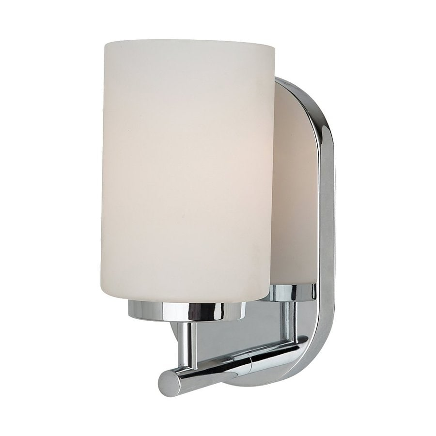 Sea Gull Lighting Oslo 1-Light Chrome Cylinder Vanity Light