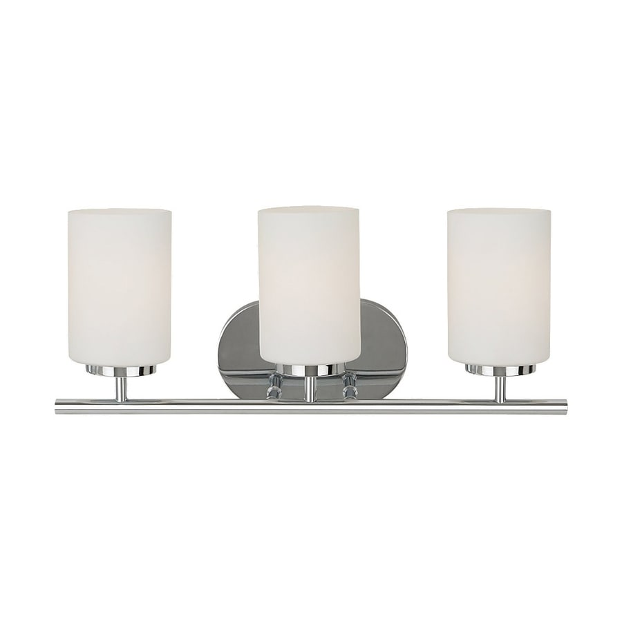 Sea Gull Lighting Oslo 3-Light 8.5-in Chrome Cylinder Vanity Light