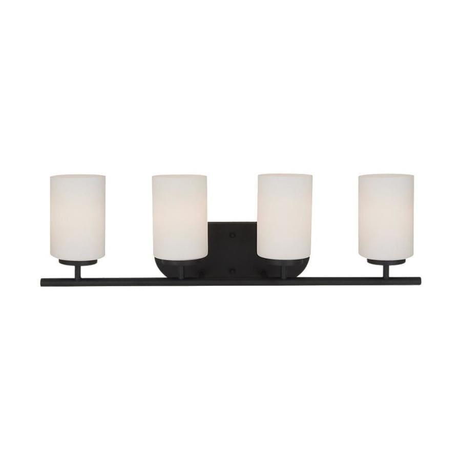 Sea Gull Lighting Oslo 4-Light 8.5-in Blacksmith Cylinder Vanity Light