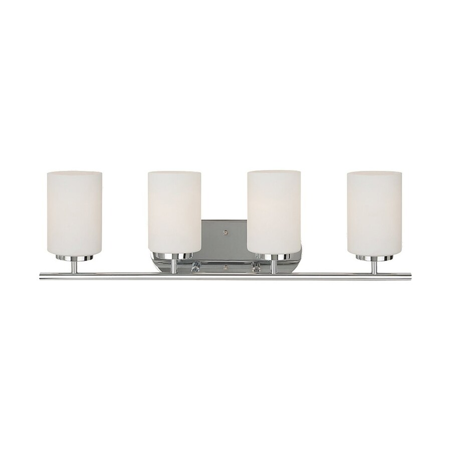 Sea Gull Lighting Oslo 4-Light Chrome Cylinder Vanity Light