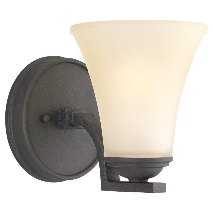 Sea Gull Lighting Somerton 1-Light Blacksmith Bell Vanity Light