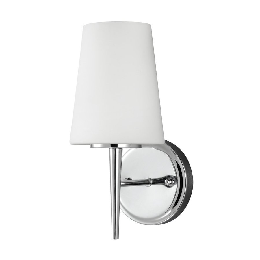 Sea Gull Lighting Driscoll 1-Light Chrome Cone Vanity Light