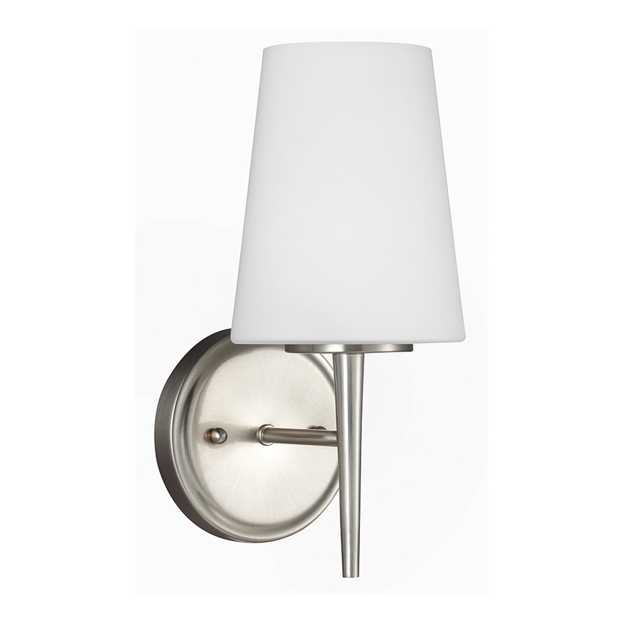 Sea Gull Lighting Driscoll 1-Light Brushed Nickel Cone Vanity Light