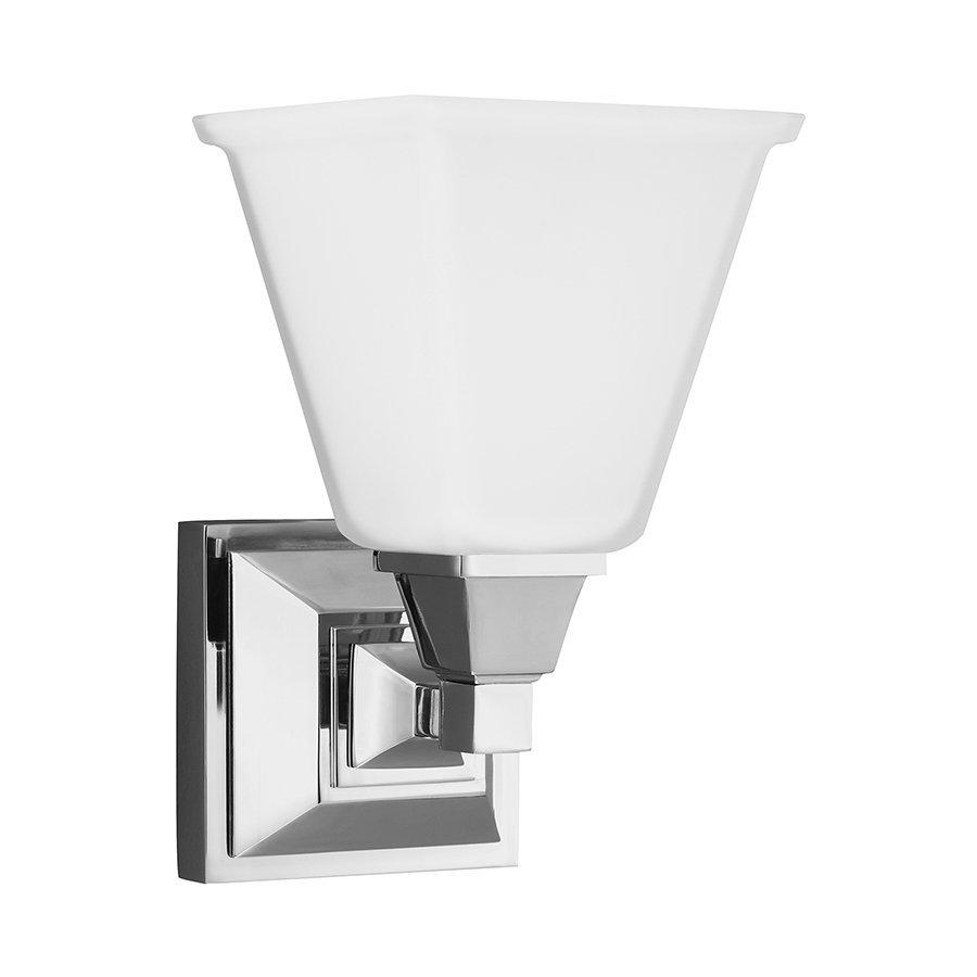 Sea Gull Lighting Denhelm 1-Light Chrome Bell Vanity Light