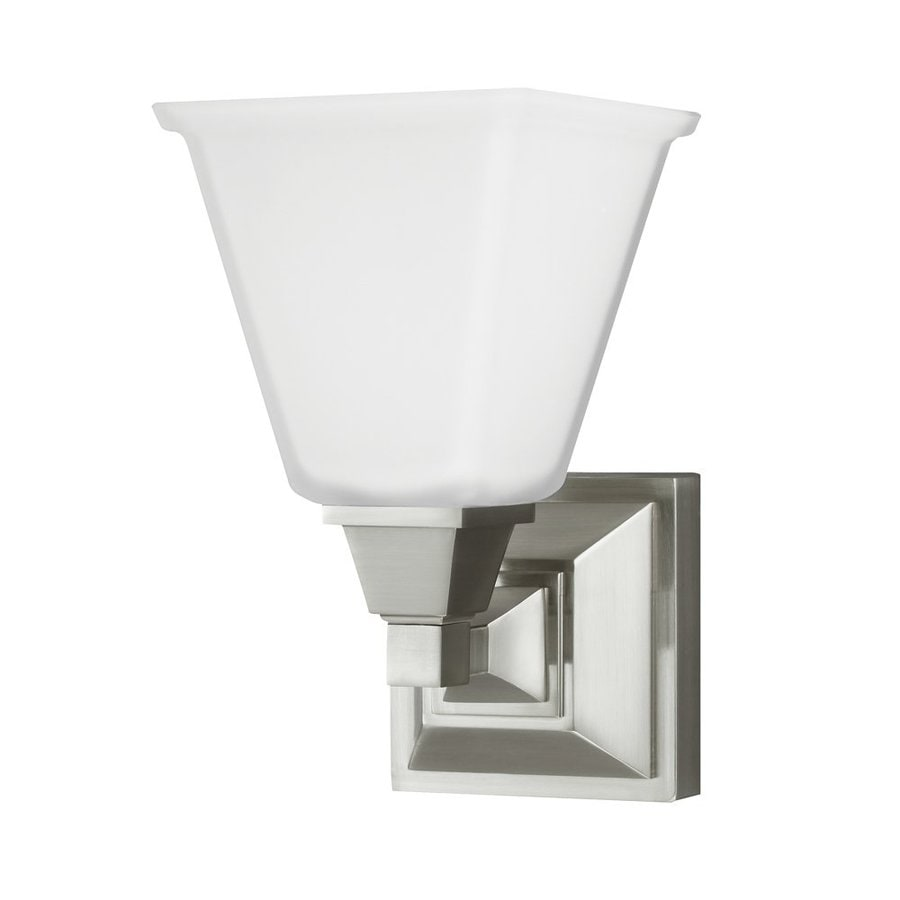 Sea Gull Lighting Denhelm 1-Light Brushed Nickel Bell Vanity Light