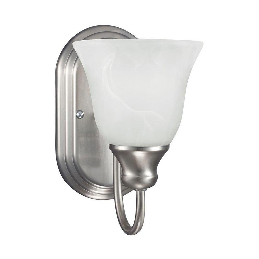 Sea Gull Lighting Windgate 1-Light 9-in Brushed nickel Bell Vanity Light