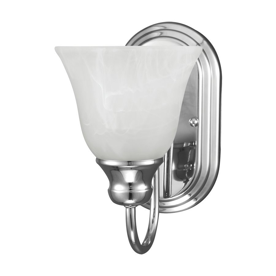 Shop Sea Gull Lighting Windgate 1-Light Chrome Bell Vanity Light at Lowes.com