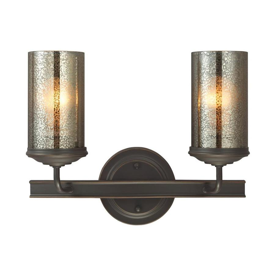 Sea Gull Lighting Sfera 2-Light Autumn Bronze Cylinder Vanity Light