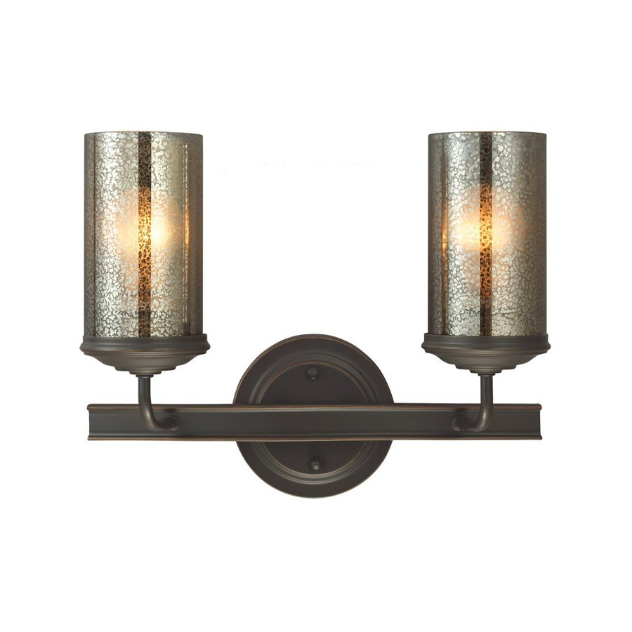 Sea Gull Lighting Sfera 2-Light Autumn Bronze Cylinder Vanity Light