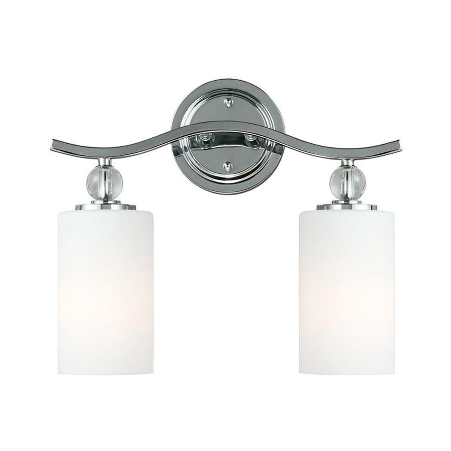 Sea Gull Lighting Englehorn 2-Light Chrome Cylinder Vanity Light