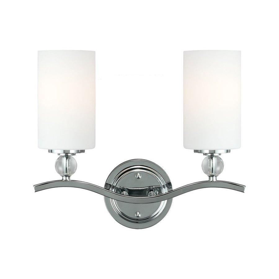 Sea Gull Lighting Englehorn 2-Light Chrome Cylinder Vanity Light