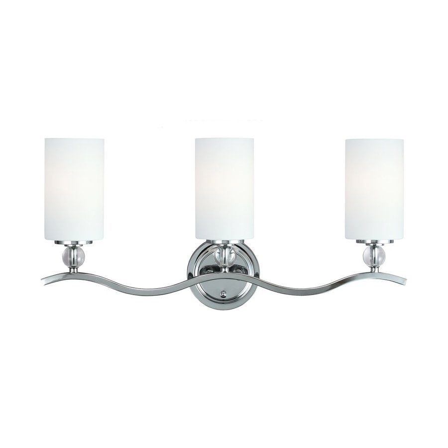 Sea Gull Lighting Englehorn 3-Light Chrome Cylinder Vanity Light