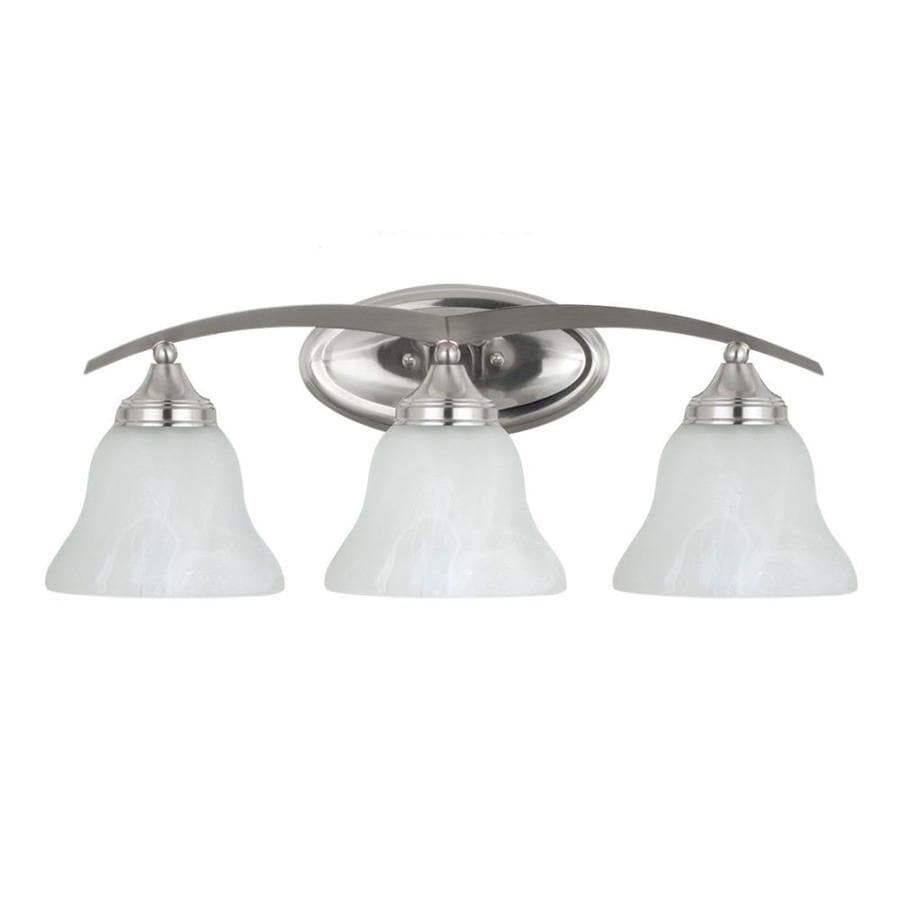 Sea Gull Lighting Brockton 3-Light 9.75-in Brushed nickel Bell Vanity Light