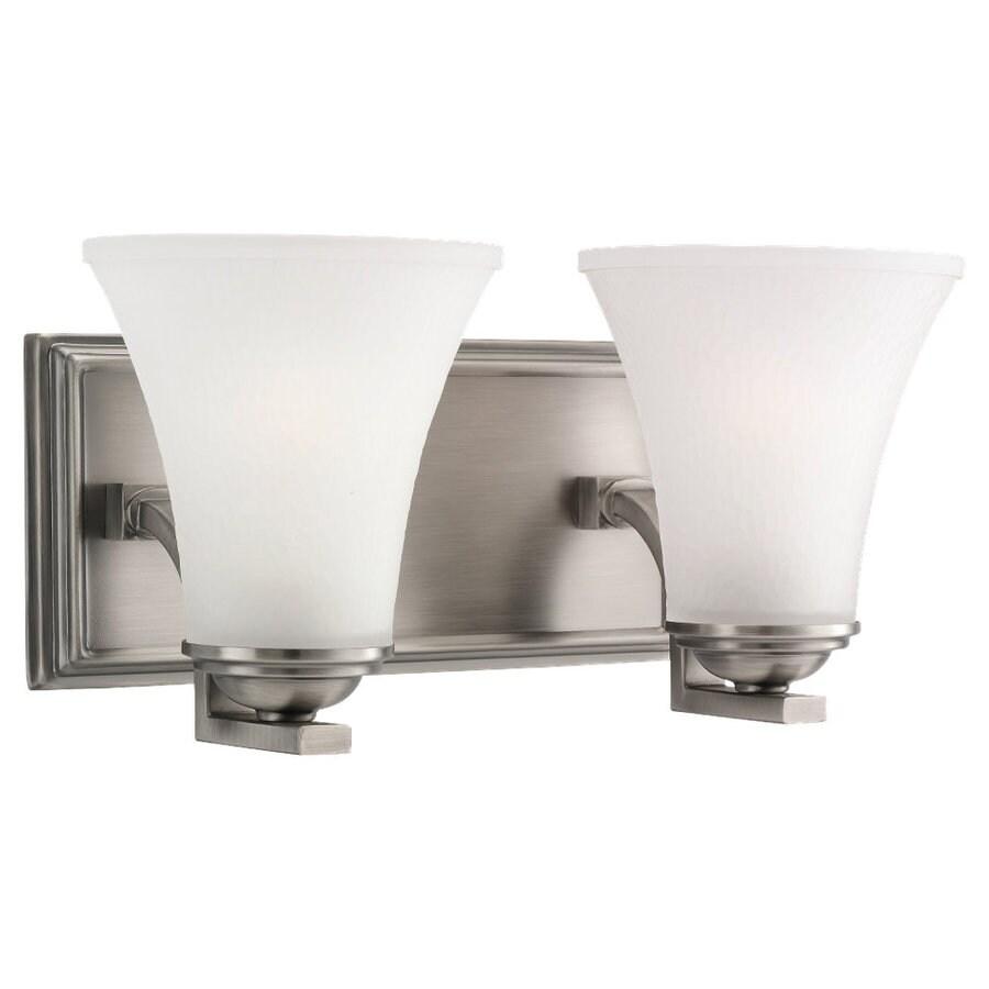 Sea Gull Lighting Somerton 2-Light Antique Brushed Nickel Bell Vanity Light