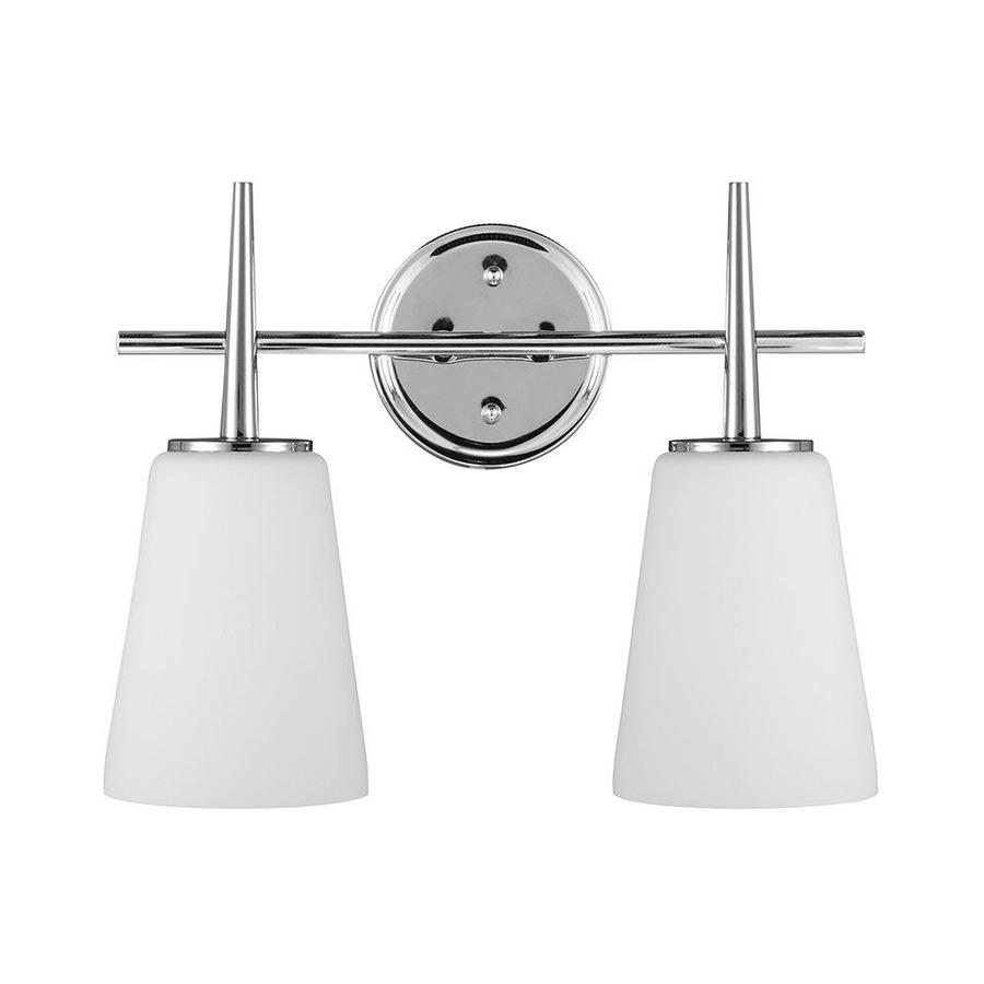 Sea Gull Lighting Driscoll 2-Light Chrome Bell Vanity Light