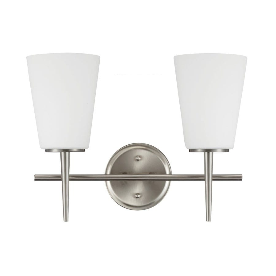 Sea Gull Lighting Driscoll 2-Light Brushed Nickel Vanity Light